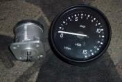 Komplet prądniczka i zegar obrotów