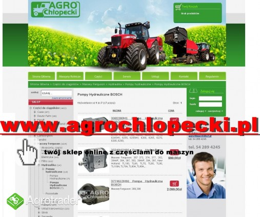 Massey Ferguson - Części do ciągników rolniczych, maszyn rolniczych