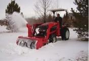 pług do śniegu wirnikowy z własną pompą hydraulicz