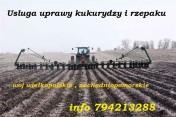 Usluga uprawy kukurydzy i rzepaku agregatem uprawowo-siewnym