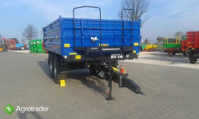 Przyczepa rolnicza ciężarowa firmy Metal-fach T730/1 8T - zdjęcie 2