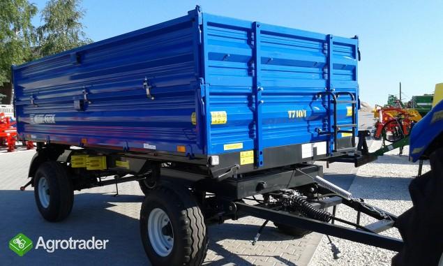Przyczepa rolnicza dwuosiowa Metal-Fach 6 ton T 710 - zdjęcie 3