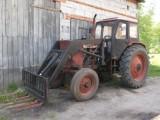 Ciągnik rolniczy Białoruś JUMZ z turem, widły+łyżka, stan dobry