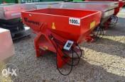 Rozsiewacz nawozów 2-tarczowy Woprol 1000 kg Malowany
