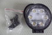 Lampa robocza okrągła 6 LED 12V-24V 6 x 3W