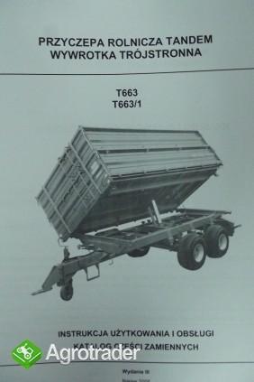 Katalog Pronar przyczepy,maszyny użytkowe,Instrukcje obsługi. - zdjęcie 6