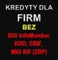 Kredyty dla FIRM bez BIG InfoMonitor, KRD, ERIF, MIG BR (ZBP)!