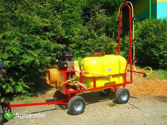 Opryskiwacz wózkowy spalinowy + zamgławiacz, 200l, 6,5 kM, 14-22l/min - zdjęcie 1