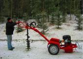 Wiertnica hydrauliczna glebowa o napędzie spalinowym 13 KM,