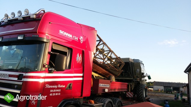 Transport kombajnów sieczkarni maszyn Claas Fent MF Holland Bizon - zdjęcie 6