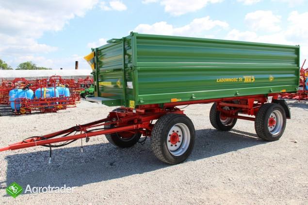 Przyczepa rolnicza ciężarowa THK 5 ton jak nowa OKAZJA wywrotka - zdjęcie 1