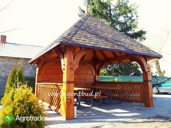 altanka+ściany+gonty ( wiaty drewniane garaż altana ) gontbud.pl - zdjęcie 1