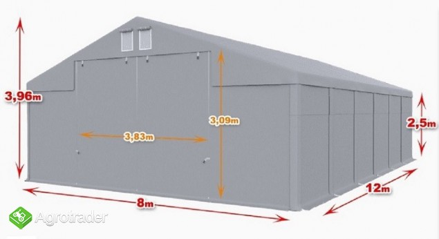 Całoroczna Hala namiotowa 8×12×2,5/3,96m