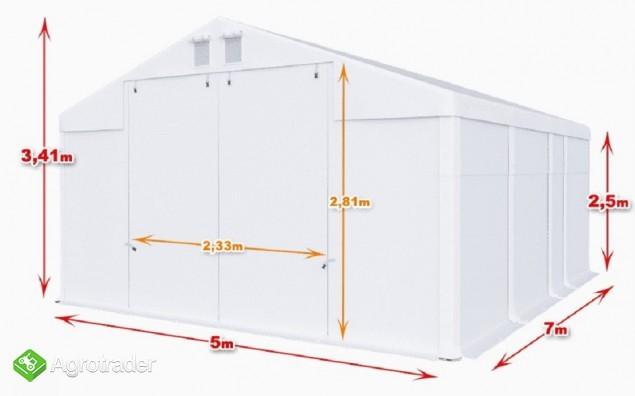 Całoroczna Hala namiotowa 5m × 7m × 2,5m/3,41m