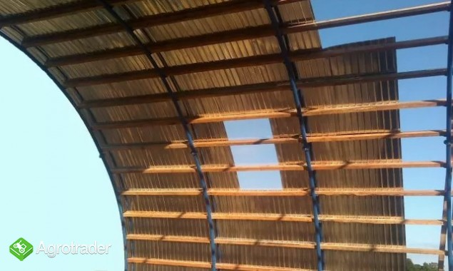 HALA tunelowa konstrukcja stalowa blacha 10,8 x 27 - zdjęcie 7