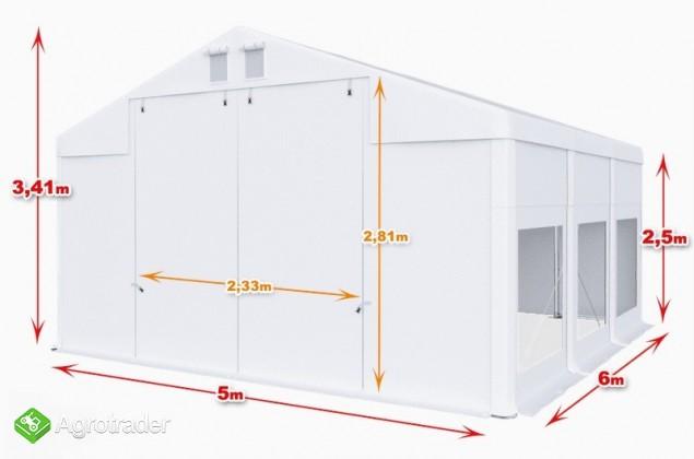 Całoroczna Hala namiotowa 5m × 6m × 2,5m/3,41m