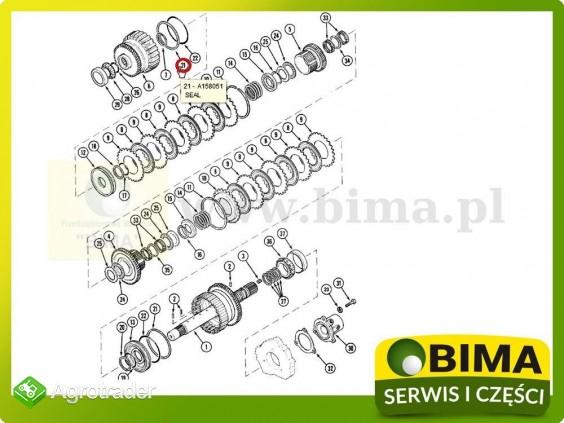 Pierścień uszczelniający kosza Case IH MX150,MX170 - zdjęcie 1