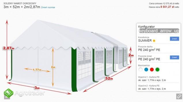 Mocny namiot bankietowy imprezowy okolicznościowy 3x52x2 mtbtent.pl! - zdjęcie 5